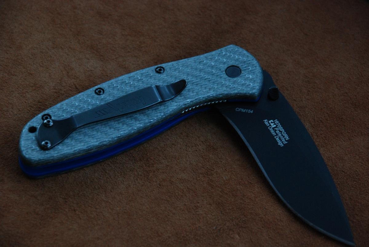 Кастомные накладки для ножей KERSHAW BLUR SILVER TWILL